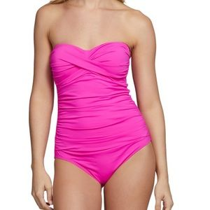 🎀Anne Cole Twist Front Shirred One Piece Swimsuit